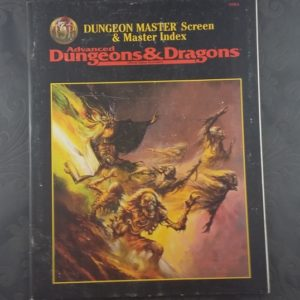 ADnD Master Index missing Dm screen TSR9504