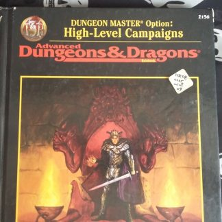 ADnD2.5 DM option highlevel campaigns cover